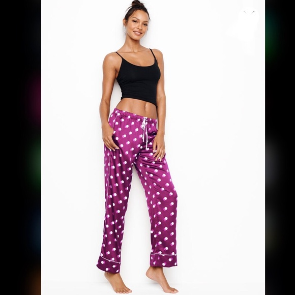7b548f0781 Victoria s Secret Pocket Satin Pant Kir Polka Dot